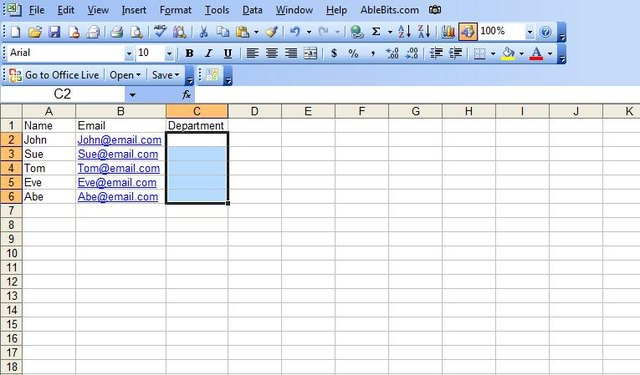 how to add a drop down box in excel 2007