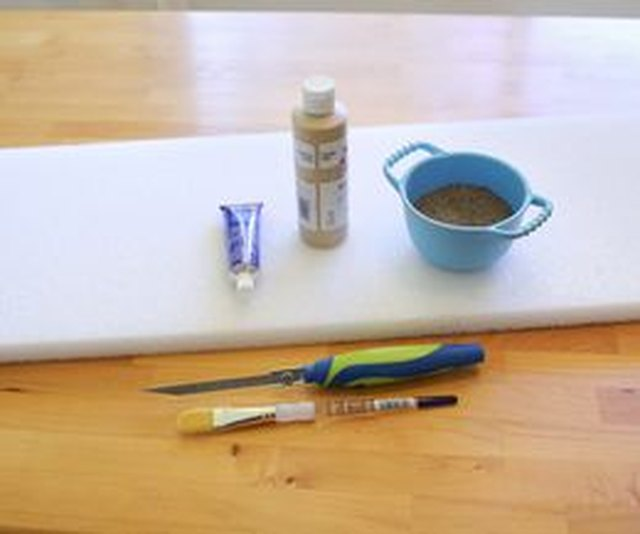 You'll need styrofoam, paint, a ruler and a few specialty tools.