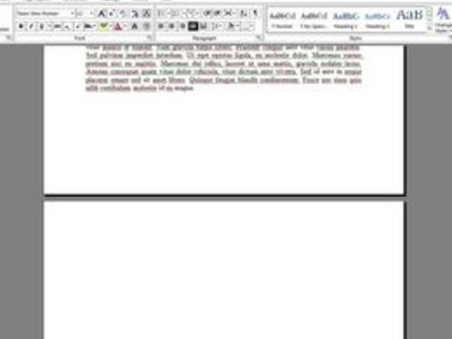 word how to delete unwanted pages