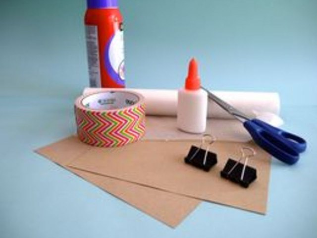 Here are the supplies for binding a thick book.