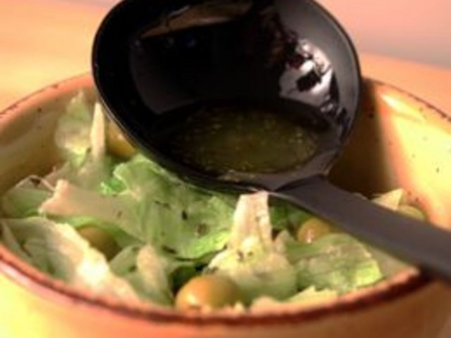 Greek salad dressing is simple yet exotic.