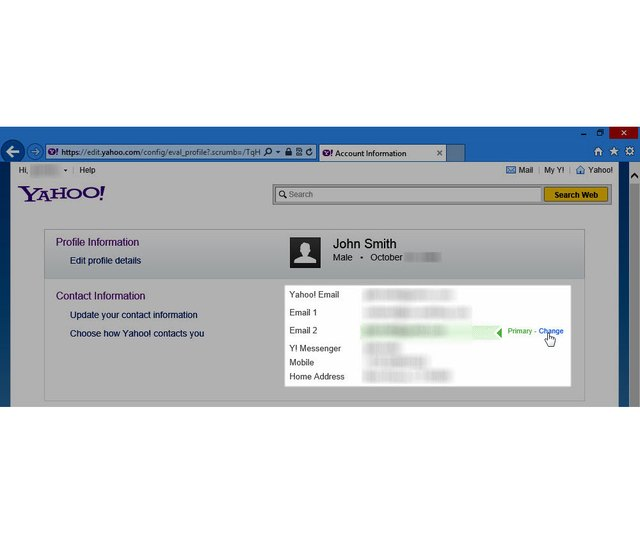 How to Change the Yahoo Mail Account Information