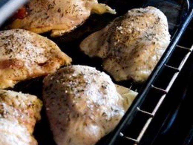 Bake chicken breast at 375 for