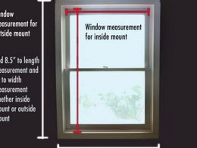 Measure the window to compute shade size and fabric requirements.
