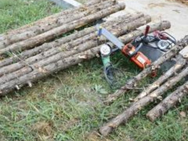 Things you'll need to make a firewood rack.