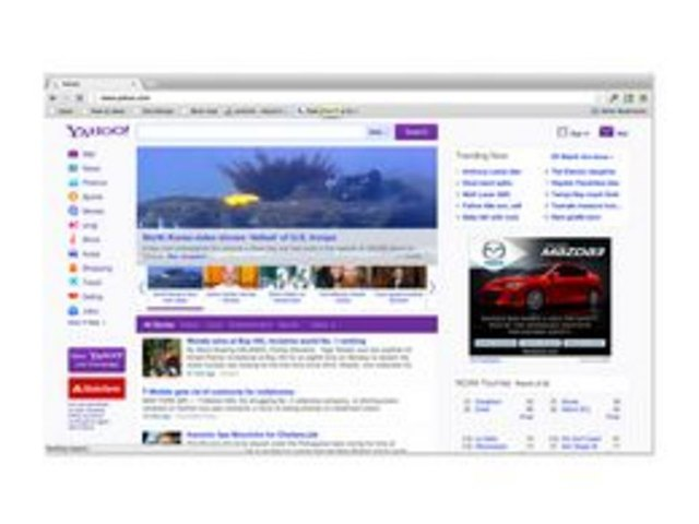 The Yahoo! home page