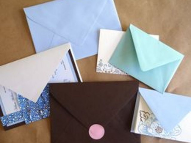 Homemade envelopes are simple and fun to create.