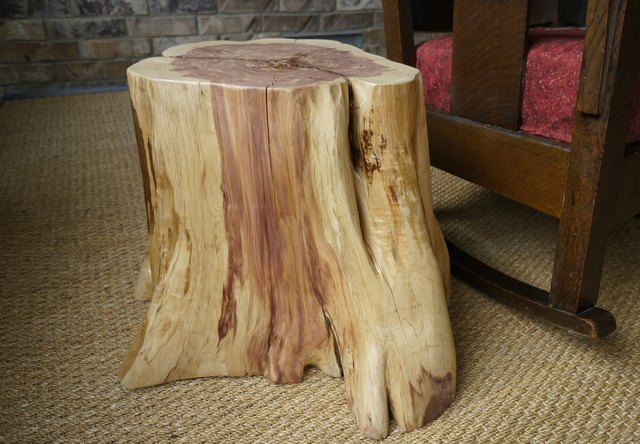 Stump end table