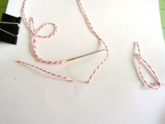 Sew with butchers twine.