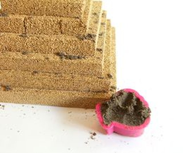 Use play sand to add dimension to your pyramid.