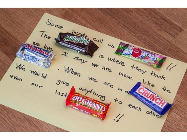 How to Make a Poem With Real Candy Bars