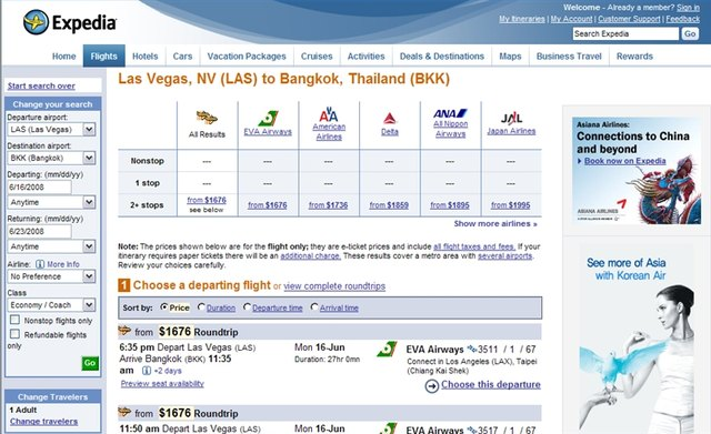 Air Fare and Hotel