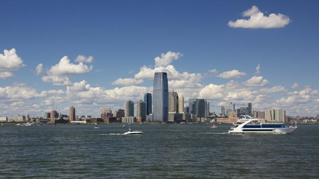Skyline of Jersey City.
