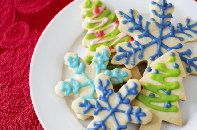 A plate of holiday cookies.