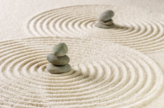 Zen gardens feature many hardscape elements for rock garden ideas.