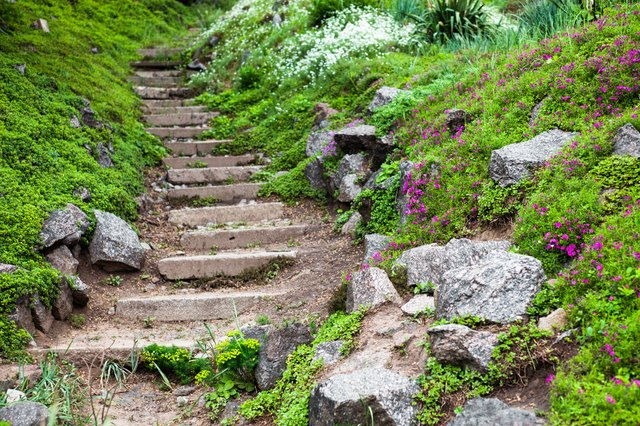 Creating a Rock Garden on a Slope eHow