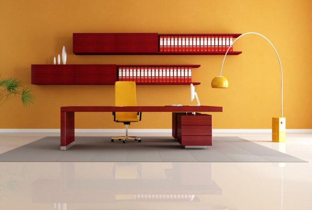 Mahogany office furniture space