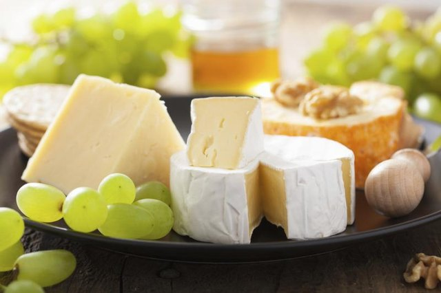 Assorted cheese and fruit