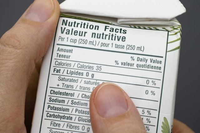 Woman reading a nutrition label