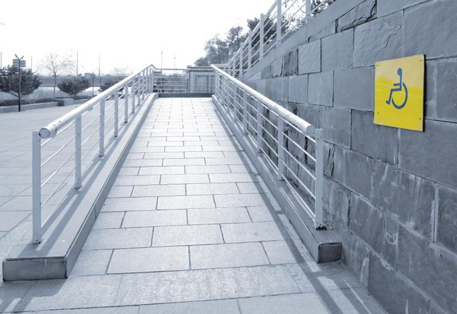A wheelchair ramp