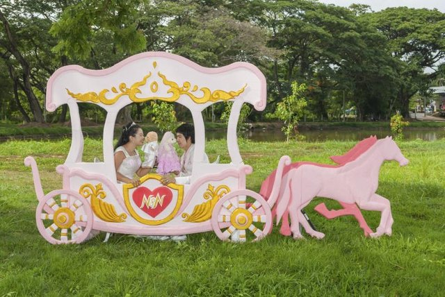 A princess carriage cutout.