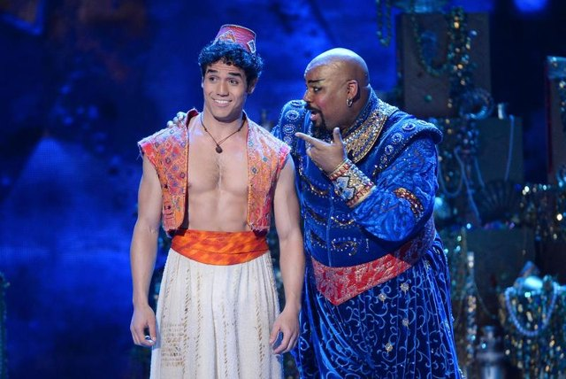 Theatrical performance of Aladdin.