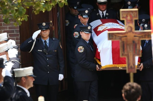 Firefighters funeral.