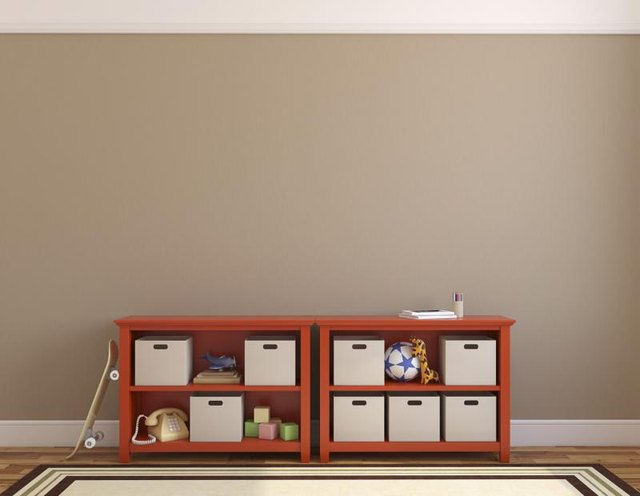 Light brown bedroom wall.