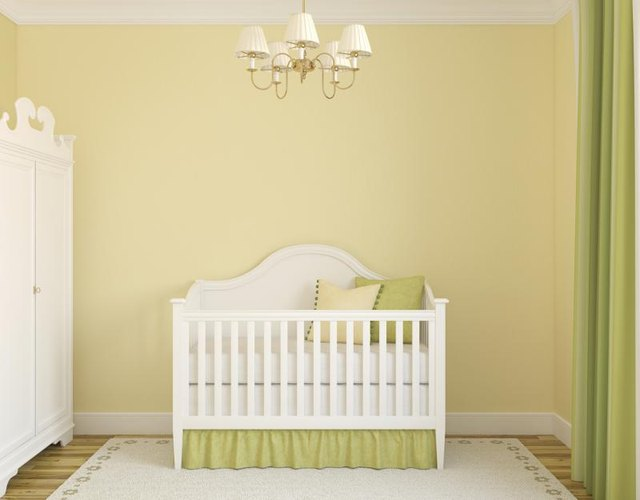 Nursery with yellow walls