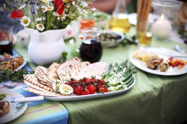 Perfect picnic table food setting