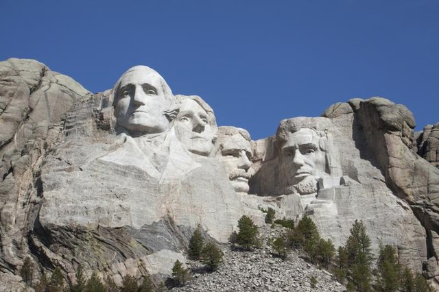 Mount Rushmore, a famous monument is in the Black Hills in South Dakota.