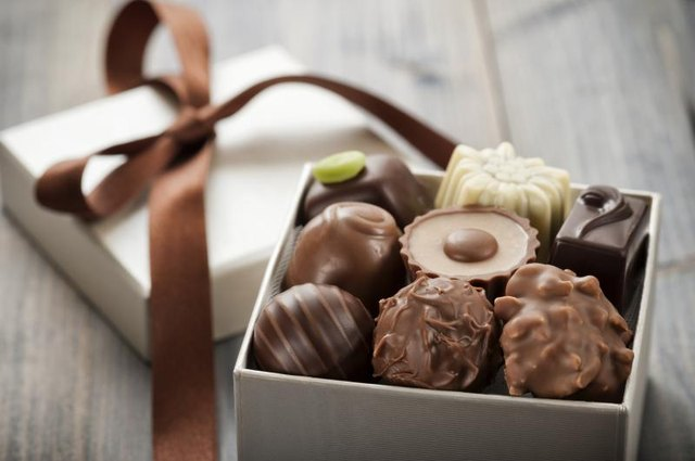A gift box full of chocolates.