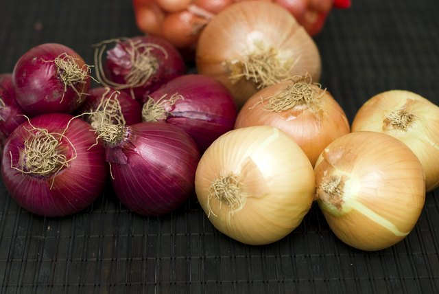 Bulb onions can be grown in 8- to 10-inch-deep pots.