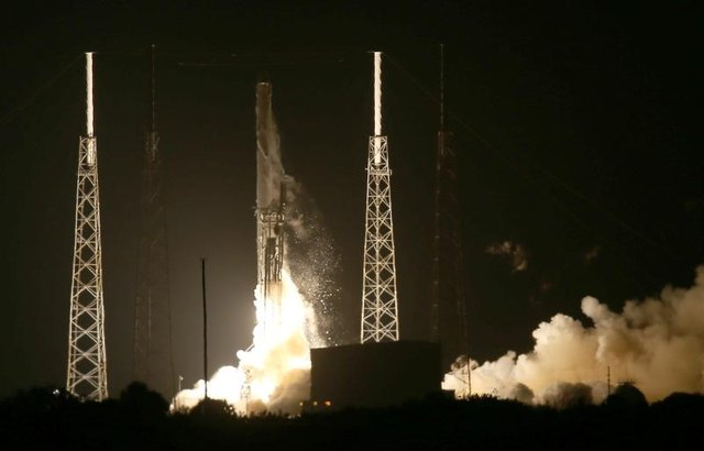 The SpaceX Falcon 9 rocket launches