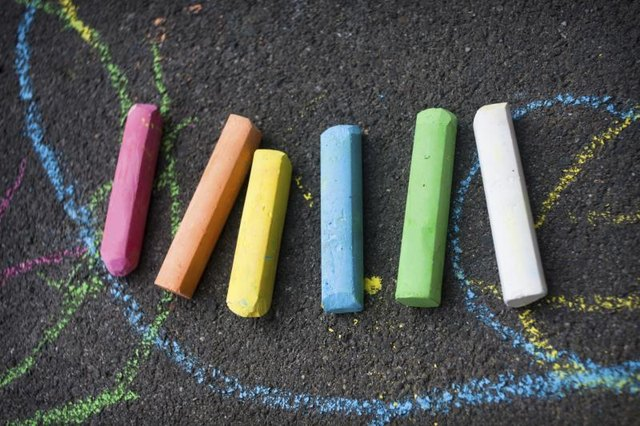 Colored chalk.