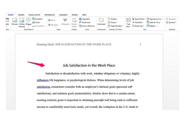 How To Make A Running Head In Ms Word With Pictures Ehow