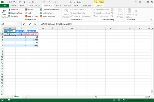 how to insert a tabel break in excel