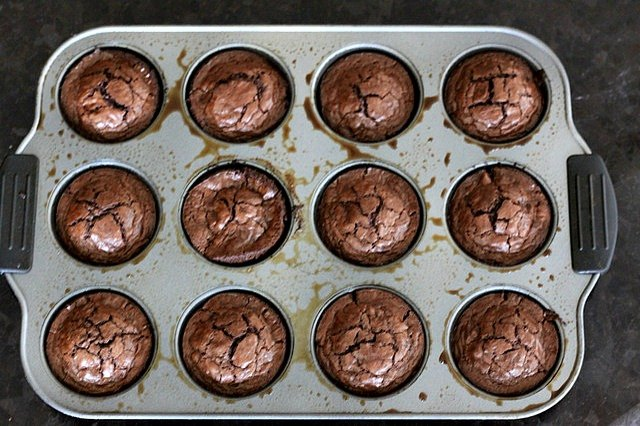 Brownies fresh out of the oven.