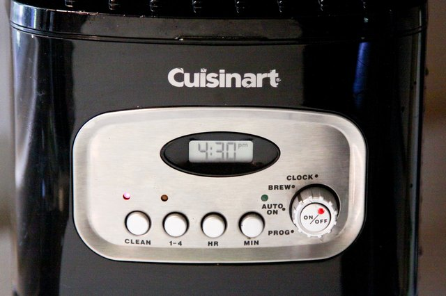 Coffee Maker Clean Light Blinking : How to Clean a Cuisinart Coffeemaker (with Pictures) eHow