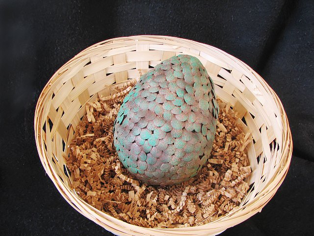 Finished dragon egg with patina