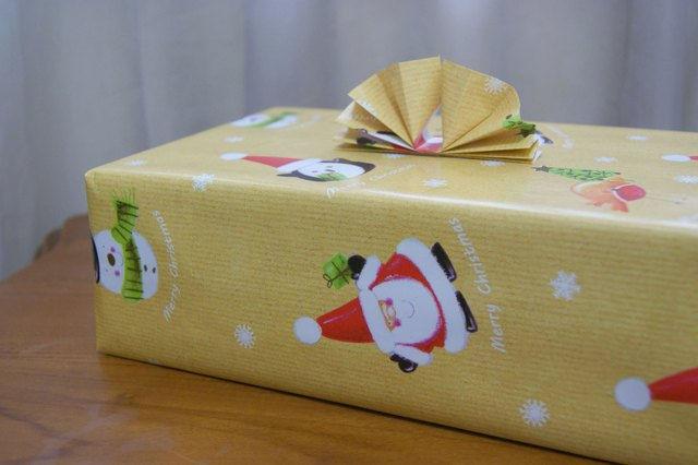 How to Measure Gift Wrap For a Box