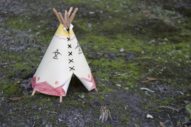 A miniature teepee helps kids explore the lifestyle and culture of Native Americans from 1840-1920.