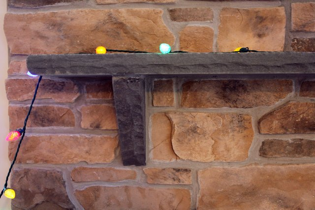 How to Decorate Stone Fireplaces at Christmas