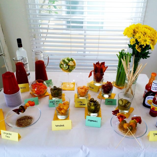 Your guests will be delighted with this DIY bloody mary bar.