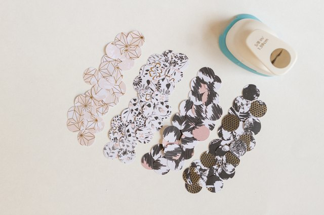 To create traditional, round confetti use a punch circle.