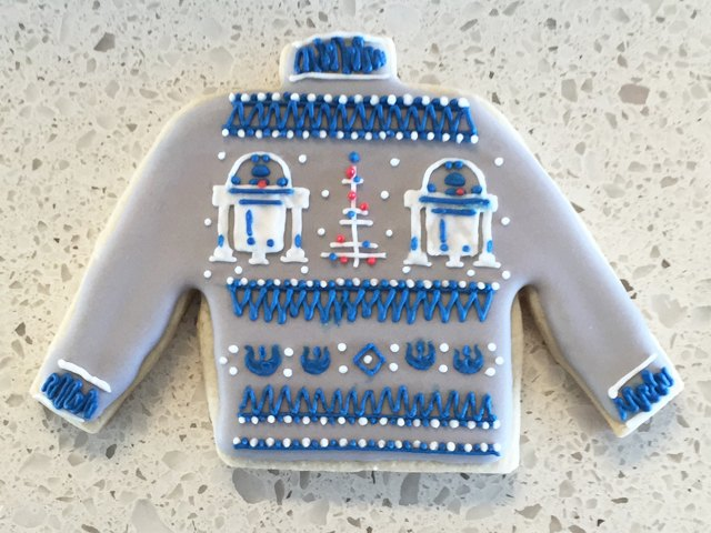 R2-D2 Ugly Christmas Sweater Cookie