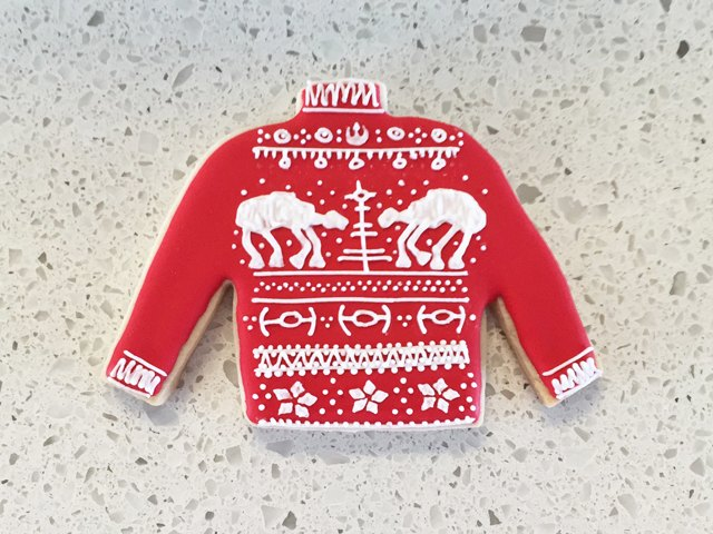 Star Wars AT-AT Ugly Christmas Sweater Cookie