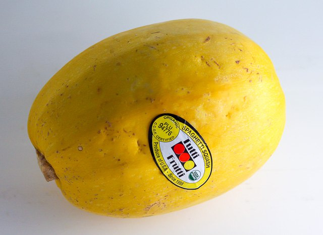 Turn this spaghetti squash into pasta replacement.