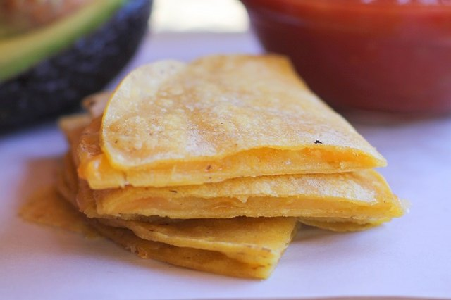 You can prepare a batch of cheese quesadillas in no time.
