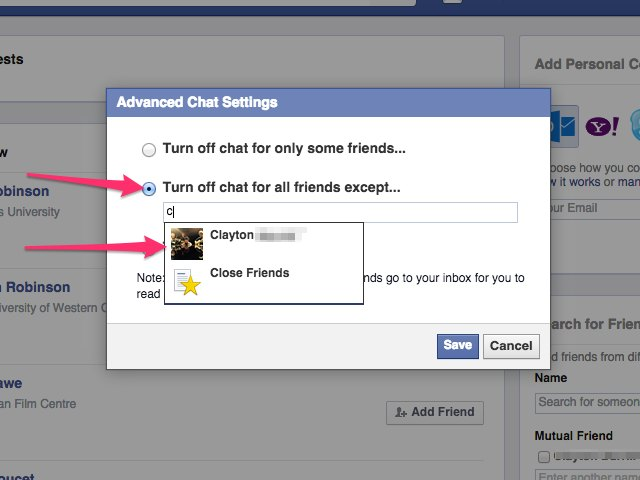 how to change webcam settings facebook chat